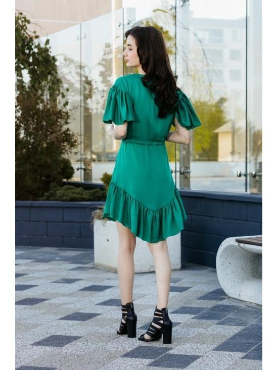 Rochie Sybill verde subtire din vascoza 100% #4
